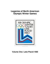 Legacies of North American Olympic Winter Games / Zimmerman, Kate ; Vancouver Organizing Committee for the 2010 Olympic and Paralympic Winter Games | Zimmerman, Kate