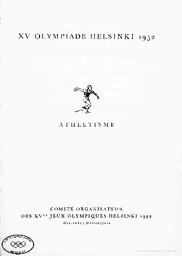 Régles générales et règlements spéciaux aux sports / Comité organisateur des XVes Jeux olympiques Helsinki, 1952 | Summer Olympic Games. Organizing Committee. 15, 1952, Helsinki