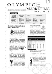 Olympic marketing matters : the olympic marketing newsletter / publ. by IOC, marketing departement | Comité international olympique. Département du marketing