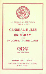 General rules and program of the 2nd Olympic winter games / Executive Committee of 2nd Olympic Winter Games ; Swiss Olympic Committee | Comité olympique suisse