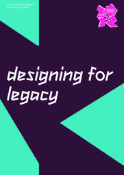 Design strategy : London 2012 / Olympic Delivery Authority | Olympic Delivery Authority (London)
