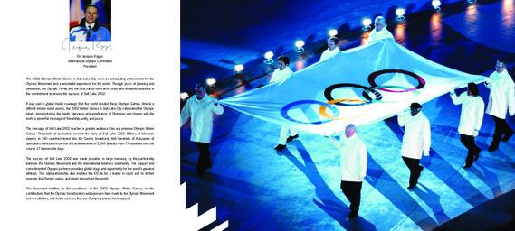 Salt Lake 2002 : marketing report / the International Olympic Committee | Comité international olympique. Département du marketing