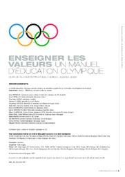Enseigner les valeurs : un manuel d'éducation olympique / un projet du Comité International Olympique | Binder, Deanna L