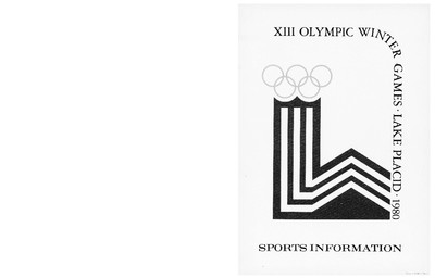 Sports information : Renseignements des sports / préparés par le Comité des réd. du Comité organisateur des Jeux olympiques d'hiver 1980 à Lake Placid / prepared by the Editorial Committee of the Lake Placid 1980 Olympic Winter Games Organizing Committee | Jeux olympiques d'hiver. Comité d'organisation. 13, 1980, Lake Placid