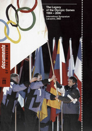 The legacy of the Olympic Games : 1984 - 2000 : International Symposium, Lausanne, 14th, 15th and 16th November 2002 / Miquel de Moragas, Christopher Kennett, Nuria Puig (eds) ; [org. by the International Chair in Olympism, Olympic Studies Centre of the Autonomous University of Barcelona and Olympic Studies Centre of the International Olympic Committee   Moragas Spà, Miquel de