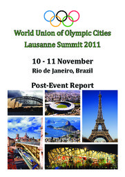 World Union of Olympic Cities Lausanne Summit ... : post-event report / ed. by the International Academy of Sports Science and Technology   World Union of Olympic Cities (Lausanne)