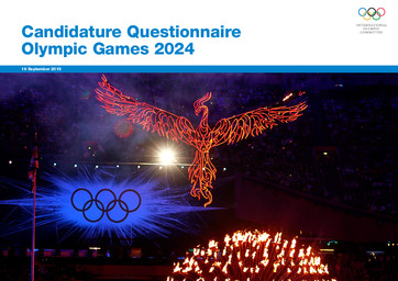 Candidature questionnaire Olympic Games 2024 / International Olympic Committee | International Olympic Committee