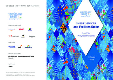 Press services and facilities guide : Sochi 2014 Paralympic Winter Games / Organizing Committee of XXII Olympic Winter Games and XI Paralympic Winter Games of 2014 in Sochi | Jeux olympiques d'hiver. Comité d'organisation. 22, 2014, Sochi