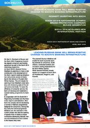 Marketing newsletter : Sochi 2014 / Sochi 2014 Organizing Committee   Olympic Winter Games. Organizing Committee. 22, 2014, Sochi