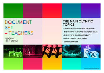 The main Olympic topics : document set - teachers / The Olympic Museum, Educational and Cultural Services | Musée olympique (Lausanne). Unité programmes culturels et éducatifs