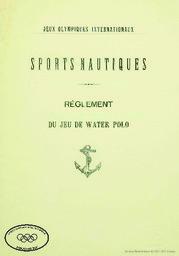 Jeux olympiques, Athènes, 5-15 avril 1896 : sports nautiques : règlement   Jeux olympiques d'été. Comité d'organisation. (1, 1896, Athēna)