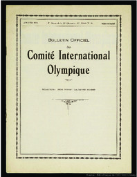 Bulletin officiel du Comité International Olympique | Comité international olympique