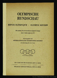 Olympische Rundschau = Revue olympique = Olympic Review | Comité international olympique