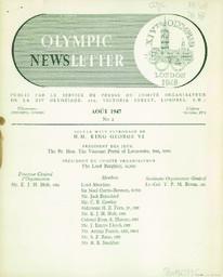 Olympic newsletter : XIVth Olympiad London 1948 / publié par le service de presse du Comité organisateur de la XIV Olympiade | Jeux olympiques d'été. Comité d'organisation. 14, 1948, London