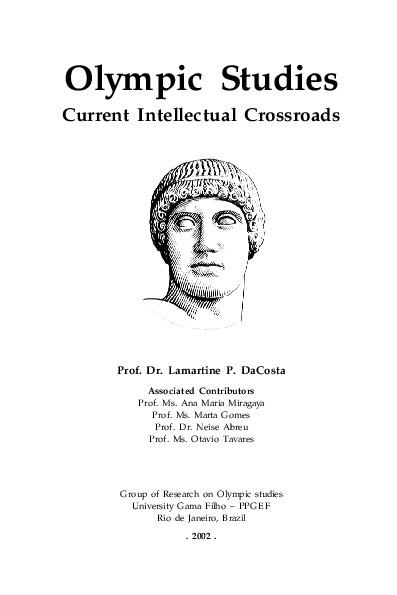 Olympic studies : current intellectual crossroads / Lamartine P. Da Costa | Costa, Lamartine Pereira da
