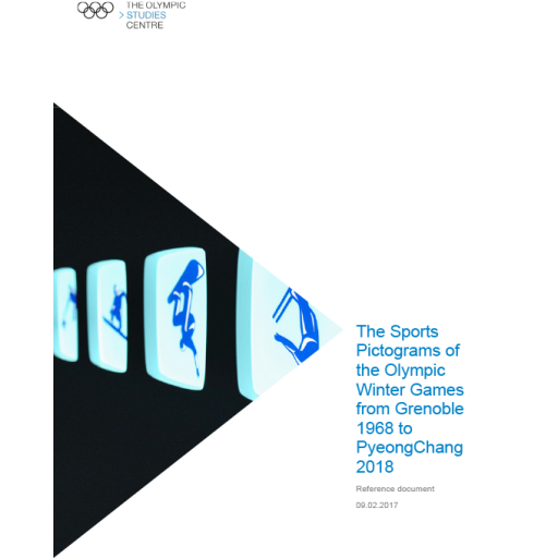 The sports pictograms of the Olympic Winter Games from Grenoble 1968 to PyeongChang 2018 / The Olympic Studies Centre | The Olympic Studies Centre
