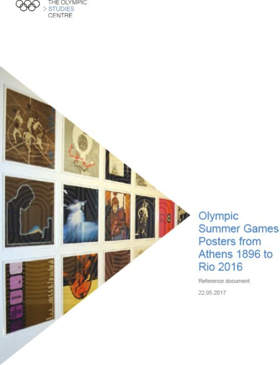 Olympic Summer Games posters from Athens 1896 to Rio 2016 / The Olympic Studies Centre | The Olympic Studies Centre