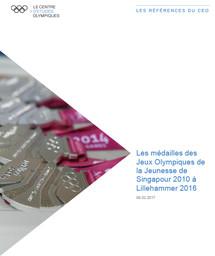 Les médailles des Jeux Olympiques de la Jeunesse de Singapour 2010 à Lillehammer 2016 / Comité International Olympique, Centre d'Etudes Olympiques | Centre d'Études Olympiques (Lausanne)