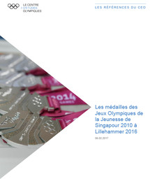 Les médailles des Jeux Olympiques de la Jeunesse de Singapour 2010 à Buenos Aires 2018 / Le Centre d'Etudes Olympiques   The Olympic Studies Centre