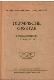 Olympische Gesetze = Règles olympiques = Olympic rules / hrsg. von Carl Diem | Diem, Carl