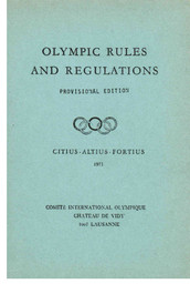 Olympic rules and regulations / [International Olympic Committee] | International Olympic Committee