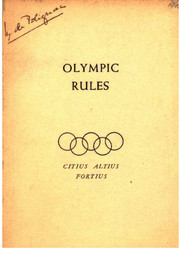 Olympic rules / [International Olympic Committee] | International Olympic Committee