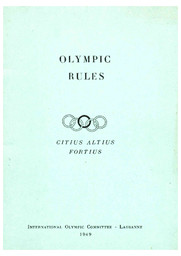 Olympic rules / International Olympic Committee | Comité international olympique