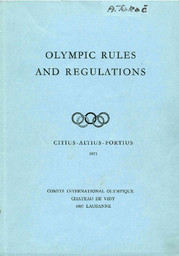 The Olympic Games : rules and regulations, eligibility code / International Olympic Committee | Comité international olympique