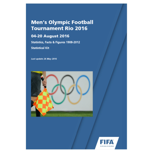 Men's Olympic football tournament Rio 2016 : 04-20 August 2016 : statistics, facts & figures 1908-2012 : statistical kit / FIFA | Fédération internationale de football association
