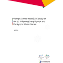 Olympic Games Impact (OGI) study for the 2018 PyeongChang Olympic and Paralympic Winter Games / The PyeongChang Organizing Committee for the 2018 Olympic & Paralympic Winter Games | Olympic Winter Games. Organizing Committee. 23, 2018, PyeongChang