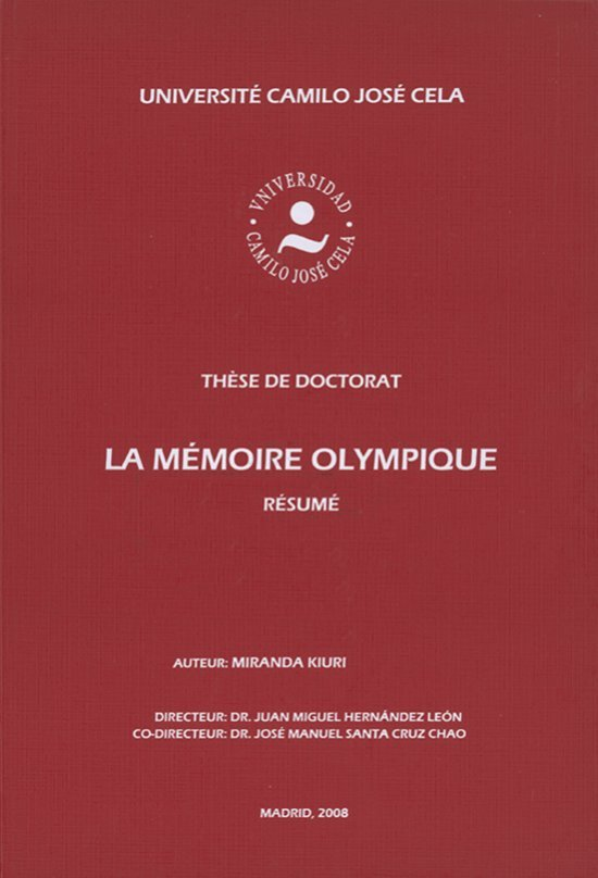 La mémoire Olympique : résumé / Miranda Kiuri Popova | Kiuri Popova, Miranda