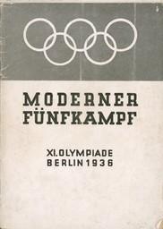 Moderner Fünfkampf : XI. Olympiade Berlin 1936 / [Organisationskomitee für die XI. Olympiade Berlin 1936] | Summer Olympic Games. Organizing Committee. 11, 1936, Berlin