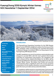 NOC newsletter : PyeongChang 2018 Olympic Winter Games / The PyeongChang Organizing Committee for the 2018 Olympic and Paralympic Winter Games | Jeux olympiques d'hiver. Comité d'organisation. 23, 2018, PyeongChang