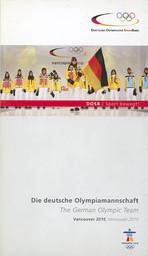 Die deutsche Olympiamannschaft : Vancouver 2010 = The German Olympic team : Vancouver 2010 / Deutscher Olympischer SportBund | Büngener, Ansgar