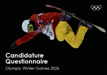 Candidature questionnaire : Olympic Winter Games 2026 / International Olympic Committee | International Olympic Committee