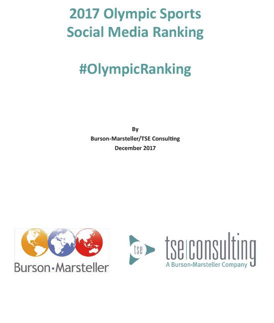 2017 Olympic sports social media ranking : #OlympicRanking / Burson-Marsteller | TSE consulting (Lausanne)