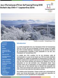 Bulletin des CNO : PyeongChang 2018 / Comité d'organisation de PyeongChang pour les Jeux Olympiques et Paralympiques d'hiver de 2018 | Jeux olympiques d'hiver. Comité d'organisation. 23, 2018, PyeongChang