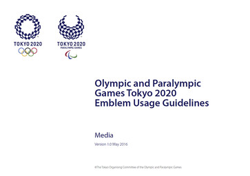 Emblem usage guidelines : Olympic and Paralympic Games Tokyo 2020 : media / The Tokyo Organising Committee of the Olympic and Paralympic Games | Jeux olympiques d'été. Comité d'organisation. 32, 2020, Tokyo
