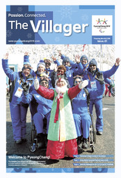 The villager : PyeongChang 2018 Paralympic Games / The PyeongChang Organizing Committee for the 2018 Olympic & Paralympic Winter Games | Jeux olympiques d'hiver. Comité d'organisation. 23, 2018, PyeongChang