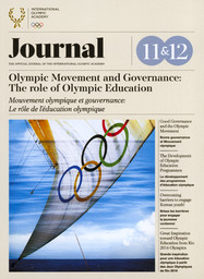Journal : the official journal of the International Olympic Academy. Vol. 11/12, November 2017 |