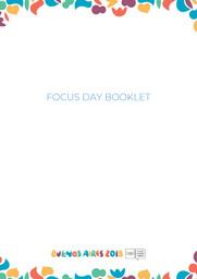 Focus day booklet : Buenos Aires 2018 Youth Olympic Games / Buenos Aires Youth Olympic Games Organising Committee | Jeux Olympiques de la jeunesse d'été. Comité d'organisation. 3, Buenos Aires, 2018