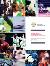 Second review of International Federation governance : 2018 ASOIF general assembly / Association of Summer Olympic International Federations | Association des fédérations internationales olympiques d'été