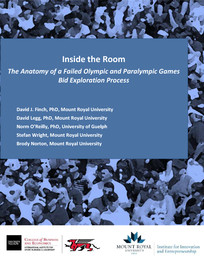 Inside the room : the anatomy of a failed Olympic and Paralympic Games bid exploration process / David J. Find... [et al.] | Finch, David J