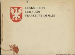 Denkschrift der Stadt Frankfurt am Main |