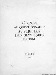 Réponses au questionnaire au sujet des Jeux Olympiques de 1964 |