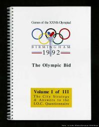 The Olympic bid : Games of the XXVth Olympiad, Birmingham 1992  