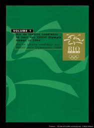 Rio de Janeiro candidate to host the XXVIII Olympic Games in 2004 = Rio de Janeiro candidate aux XXVIIIe Jeux Olympiques 2004 / Rio de Janeiro Olympics Bid Committee   Rio de Janeiro Olympics Bid Committee