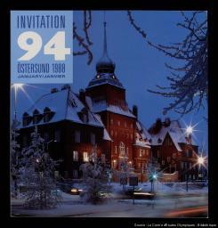 Invitation '94 Östersund 1988 / publ. par le Comité Olympique d'Östersund   Comité olympique d'Östersund