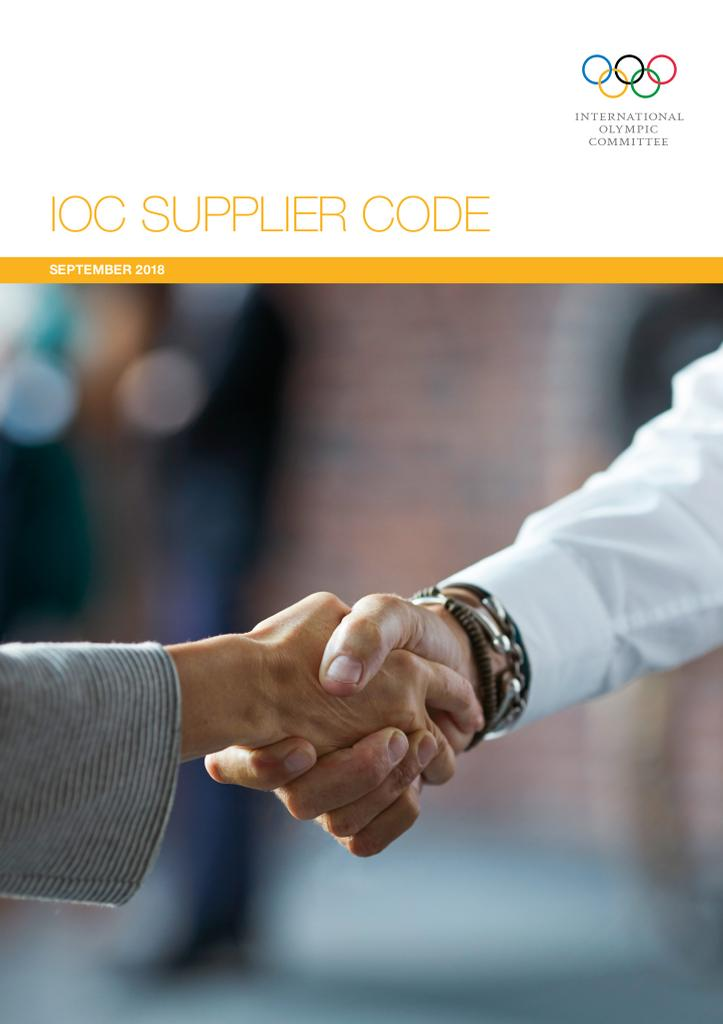 IOC supplier code / International Olympic Committee | International Olympic Committee