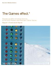 The Games effect / PricewaterhouseCoopers LLP | PricewaterhouseCoopers